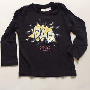 "Zara baby boy long sleeve top ""Dad Rocks"" print"